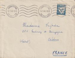 Lettre 1940 De Lisbonne Pour La France - 1910-... République