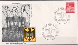 Germany The Brandenburg Gate Stamp On Special Cover From 1966 - Architecture