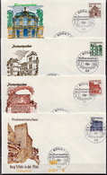 Germany Famous Buildings Set On FDC From 1964-65 - Architecture