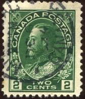 Pays :  84,1 (Canada : Dominion)  Yvert Et Tellier N° :   109 (b) (o)  Thin Paper - 1911-1935 Règne De George V