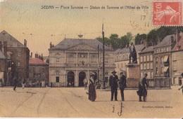 CPA -  SEDAN  -  Place Turenne, Statue De Turenne - Sedan