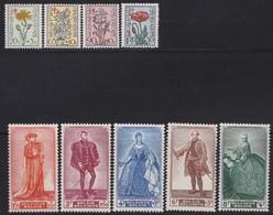Belgie    .    OBP   .     814/822      .     **     .    Postfris ZONDER  Charnier    .  / .  Neuf SANS  Charniere - Belgium