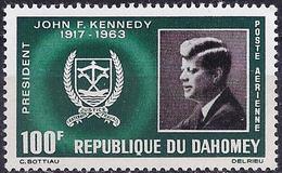 Dahomey 1965 - Mi 265 - YT Pa 34 ( John Fitzgerald Kennedy ) MNH** Airmail - Bénin – Dahomey (1960-...)