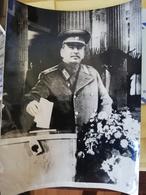 Foto Di Stalin CCCP 20x15 Cm - Guerre, Militaire