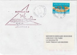 AERONAVALE - Flottille 23F Atlantique 2 Cachet Lann Bihoué 12/5/2003 - Storia Postale