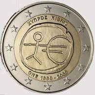 Cyprus   2009      2 Euro Commemo  EMU    UNC Uit De Rol  UNC Du Rouleaux  !! - Chipre