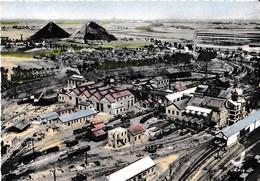 EN AVION AU DESSUS DE ESCAUDAIN ,GROUPE DES HOUILLERES ,PLAN COULEUR  REF 60729 - Autres Communes