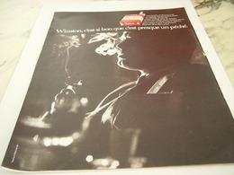 ANCIENNE PUBLICITE PRESQUE UN PECHE  CIGARETTE WINSTON 1968 - Tabac (objets Liés)