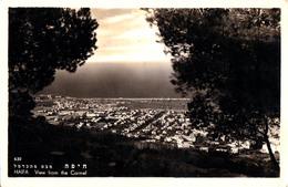 HAIFA : VIEW FROM THE CARMEL - CARTE VRAIE PHOTO / REAL PHOTO POSTCARD - YEAR ~ 1950 (ac652) - Israel