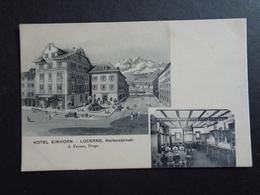 Suisse ( 217 )  Switserland  Svizzera  Sweiz  Zwitserland  :  Lucerne   Hôtel Einhorn - Suisse