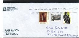 CANADA Postal History Cover Bedarfsbrief CA 097 Air Mail Personalities Queen Oliver Jones - 1952-.... Règne D'Elizabeth II