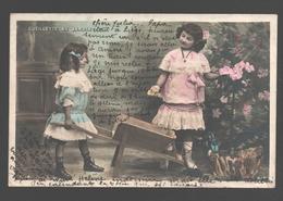 Fantasy / Fantaisie / Fantasie Kaart - 2 Girls / Filles / Meisjes - Ceuillette Au Jardin - 1905 - Scènes & Paysages