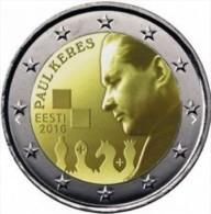 Estland  2016     2 Euro Commemo   100 Jaar Paul Keres      UNC Uit De Rol  UNC Du Rouleaux  !! - Estonie