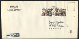 CZECH REPUBLIC Brief Postal History Envelope CZ 041 Christmas New Year Art Painting - Czech Republic