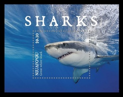 Tonga (Niuafo'ou) 2019 Mih. 728 (Bl.86) Fauna. Sharks MNH ** - Tonga (1970-...)