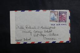 BERMUDES - Enveloppe Pour Le Canada En 1943 Avec Contrôle Postal, Affranchissement Plaisant - L 39985 - Bermudes