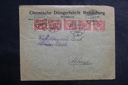 ALLEMAGNE - Enveloppe Commerciale De Rendsburg En 1923, Affranchissement Plaisant - L 39988 - Germania