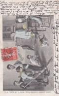 CPA -Chocolat Vinay- Souris Inquiéte - Série V, 28 Sujets. N°6 -Enfants , Familles,chat- 1905 (lot Pat 80) - Publicité