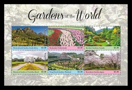 Tonga 2019 Mih. 2246/51 (Bl.125) Gardens Of The World MNH ** - Tonga (1970-...)