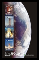 Tonga 2019 Mih. 2253/56 (Bl.127) Space. Apollo 11. Moon Landing MNH ** - Tonga (1970-...)
