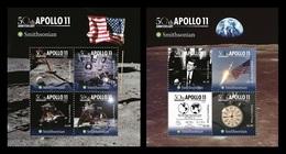 Tonga 2019 Mih. 2257/64 (Bl.128/29) Space. Apollo 11. Moon Landing MNH ** - Tonga (1970-...)