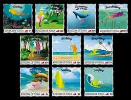 Tonga 2019 Mih. 2265/74 Adventures In Tonga. Sport. Ships. Fauna. Fishes. Birds. Whales (overprint) MNH ** - Tonga (1970-...)