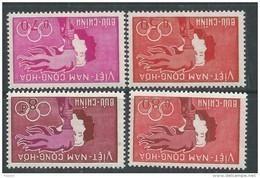 """Vietnam Du Sud N° 165 / 68  XX Série """"Sports Et Jeunesse"""". Les 4  Valeurs  Sans Charnière  TB - Viêt-Nam"""