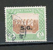 SOUDAN - T DE SERVICE - N° Yt  95 Obli. - Soudan (1954-...)