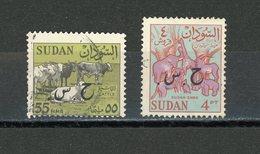 SOUDAN - T DE SERVICE - N° Yt  107+108 Obli. - Soudan (1954-...)