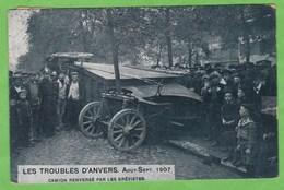 ANVERS   -   Camion Renversé Par Les Grévistes  (1 Coupure) - Antwerpen