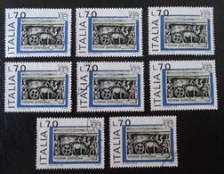 """ITALIA'76"" - CURSUS PUBLICUS - OBLITERES - YT 1273 - MI 1541 - VARIETES D'OBLITERATIONS - 6. 1946-.. Republic"