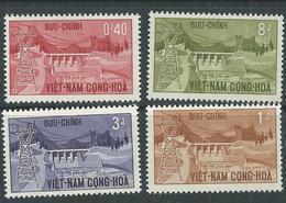 Vietnam Du Sud N° 230 / 33 XX Aménagement Hydroélectrique De Danhim. Les 4  Vals  Ss Charnière  TB - Viêt-Nam