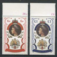 Gibraltar 1977 N° 346/347 ** Neufs MNH Superbes C 4,50 € Elizabeth II Anniversaire Accession Au Trône Portraits - Gibraltar