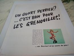 ANCIENNE PUBLICITE POUR LES GRENOUILLES PERRIER  1968 - Affiches