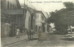 "5086 ""DAKAR (SENEGAL)-BOULEVARD PINET-LAPRADE ""ANIMATA- CART. ORIG. SPED. 1911 - Senegal"