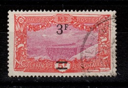 Cote Des Somalis - YV 119 Surcharge 3F Oblitere Cote 8 Euros - Côte Française Des Somalis (1894-1967)