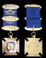 MEDAILLE FRANC MACON . ANTEDILUVIAN ORDRE OF BUFFALOES ROYALE . PRIDE OF BRAINTREE LOGE : 153 . - Professionali/Di Società