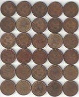 Hong Kong Collection Of 30x 10 Cent Coins 1948-1979 All Listed & Different - Hongkong