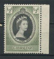 Gibraltar 1953 N° 129 * Neuf MH Légère Trace Charnière TTB C 0.75 € Couronnement Elizabeth II - Gibraltar