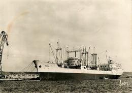 """Brest - Le Bateau De Commerce Minéralier """" ROCROI """" à Son Poste D'amarage Dans Le Port De Commerce - Brest"""