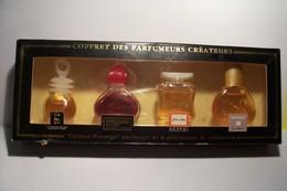COFFRET DES PARFUMEURS CREATEURS  -  NAF-NAF  / MAROUSSIA /  KOOKAI /  VANDERBILT - Modern Miniatures (from 1961)