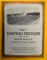 11493 - Château Giscours 1967 Margaux - Bordeaux