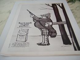 ANCIENNE PUBLICITE TENTE CIGARETTE  KENT 1968 - Tabac (objets Liés)
