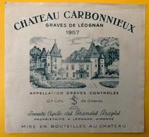11494 - Château  Carbonnieux 1957  Graves De Léognan - Bordeaux