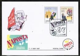 CEPT 1997 MT MI 1012-13 MALTA POSTCARD I - Europa-CEPT