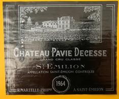 11497 - Château Pavie Decesse 1964 Saint Emilion - Bordeaux