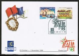 CEPT 1998 MT MI 1041-42 MALTA POSTCARD I - Europa-CEPT
