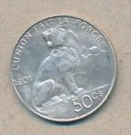 België/Belgique 50 Ct Leopold II 1901 Fr Morin 192 (89364) - 1865-1909: Leopold II