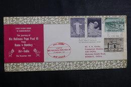 VATICAN - Enveloppe De La Visite Du Pape En Inde Par Avion En 1964 , Affranchissement Plaisant - L 40007 - Covers & Documents
