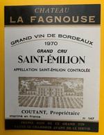 11502 - Château La Fagnouse 1970 Saint-Emilion - Bordeaux